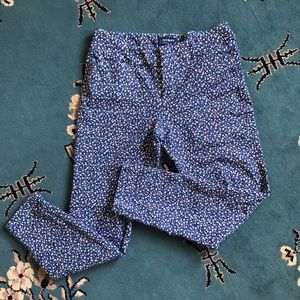 Old Navy Blue Patterned Mid-Rise Pixie Pants